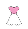color silhouette image wedding dress fashion vector image vector image