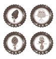 eco farm vintage grunge labels collection vector image