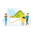 financial business idea concept tiiny people vector image