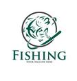 fishing logo designs vector image vector image