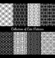 floral arabic pattern set black and white modern vector image vector image
