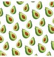 fresh avocado pattern background vector image