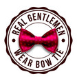 gentleman label design top club bow tie vector image vector image