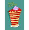 Happy birthday big cake lots of biscuits vector image vector image