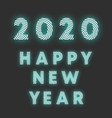 happy new year 2020 background radial line design vector image vector image