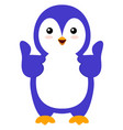 happy penguin on white background vector image vector image