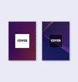hipster cover design template set violet abstract vector image vector image