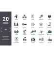 human resources icons set collection includes