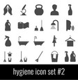 hygiene icon set 2 gray icons on white vector image vector image