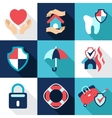 Infographic design elements protect safe health vector image