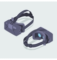 Isometric virtual reality headset vector image vector image
