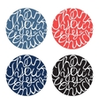 Lettering element in four colors vector image vector image