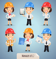 manager in helmet set1 2 vector image vector image