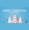 merry christmas holiday greeting with 3d fir trees vector image vector image
