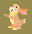 milk chocolate bunny sweetness holiday mascot vector image vector image
