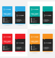 modern vertical business card templates 4 colors vector image vector image