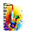 music background with saxophone vector image