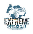 off-road tire logotype vector image vector image