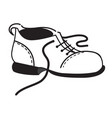 outline of the one shoe vector image vector image