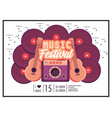 radio with acoustic guitars to music festival vector image vector image