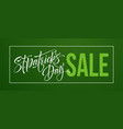 saint patricks day sale poster lettering banner vector image