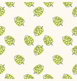 seamless floral pattern with monstera vector image