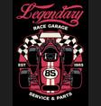 shirt design vintage formula car racing vector image vector image