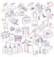 Shopping doodles Sale hand drawn style vector image vector image