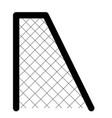 soccer net icon vector image vector image