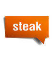 steak orange 3d speech bubble vector image vector image