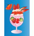 Summer Berry Sundae vector image vector image