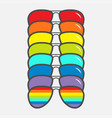 Sunglasses icon glasses set with rainbow lenses