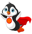 Super Penguin vector image