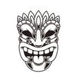 tiki idol design element for logo label sign vector image vector image