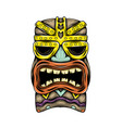 traditional tiki island mask with gold vector image vector image
