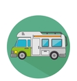 trailer travel car isolated icon vector image