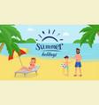 tropical holidays flat vector image
