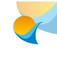 wave logo vector image vector image