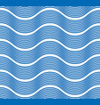 waves seamless pattern water runny curve lines vector image