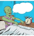 Zombie waking up in the morning pop art vector image vector image