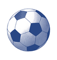 Engraved soccer ball vector image