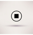 Icon of stop Web Isolated vector image