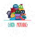 Owls hand drawn banner vector image