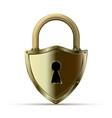 3d realistic closed padlock vector image