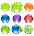 Glossy Globes Set vector image