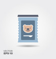 jar of baby food vector image