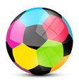 Colorful Soccer Football Ball Isolated on White vector image