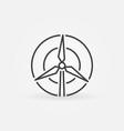wind turbine concept icon vector image