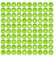 100 joy icons set green circle vector image vector image