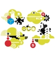 Abstract green icons for your ecological logo vector image vector image